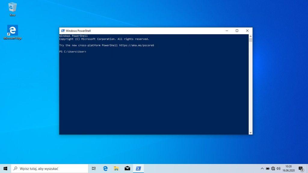 Windows 10 - power shell